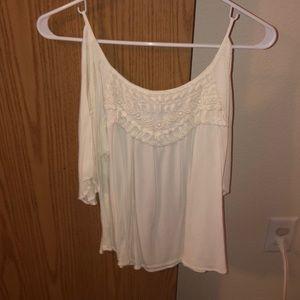 Open shoulder white top